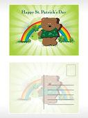 Illustration of patrick day postcard — Stock Vector