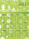 Xmas background calender for 2011 — Stockvektor