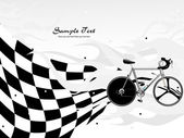 Vector racing bicycle on background — Stock Vector