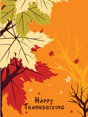 Wallpaper for happy thanksgiving day — Stock Vector