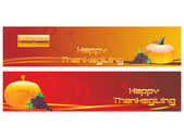 Set of banner for thanksgiving day — Stock Vector