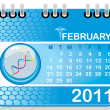 Vector calender for new year 2011 - Stock Vector