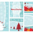 Merry Xmas And Happy New Year Collection — Imagen vectorial