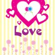 Abstract love background — Vettoriali Stock