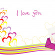 Vector de stock : Abstract love background