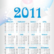 Vector calender for new year 2011 — Stock Vector #4225436