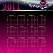 Stock Vector: Vector calender for new year 2011