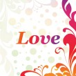 Illustration of romantic love background — Stock vektor
