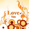Illustration of romantic love background — Imagen vectorial