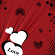 Illustration of romantic love background — Imagens vectoriais em stock