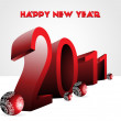 Happy new year wallpaper for 2011 — Stock Vector