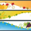 Set of happy thanksgiving day banner — Stock Vector