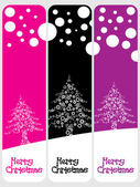 Set of banner for merry xmas — Stock Vector