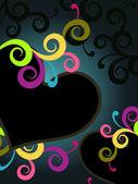 Romantik aşk arka plan çizimi — Stok Vektör