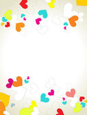 Illustration of romantic love background — Stock Vector