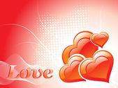 ロマンチックな愛の背景イラスト — ストックベクタ