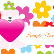 Stock vektor: Abstract love background