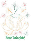 Illustration für happy thanksgiving-tag — Stockvektor