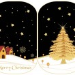 Set of two merry xmas banner — Stock Vector #4240038