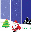 Set of three merry xmas banner — Stock Vector