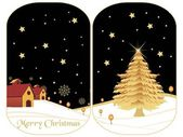 Set of two merry xmas banner — Wektor stockowy