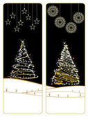 Set of two merry xmas banner — Vector de stock