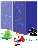 Set of three merry xmas banner — Stock Vector