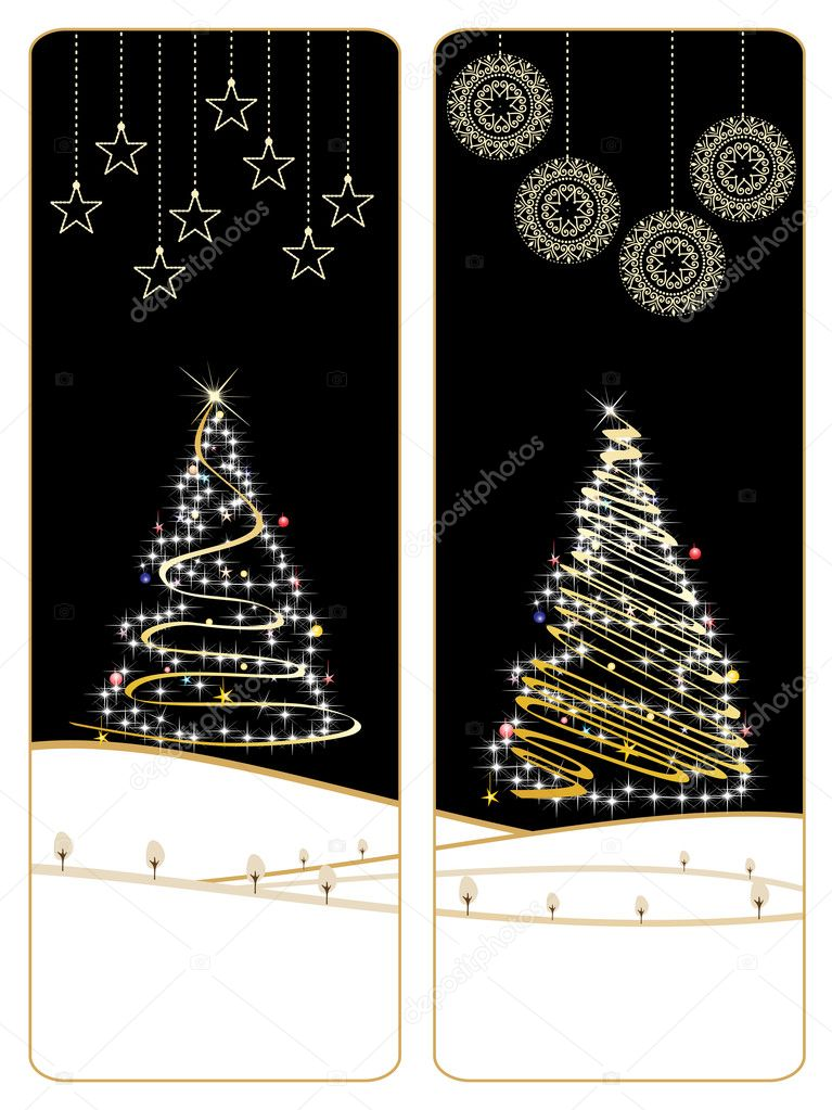 Stylish pattern merry xmas banner, vector illustration — Stock Vector #4240059
