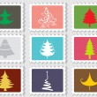 Set of merry xmas stamp — Stock Vector #4269258
