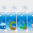 Set of christmas sale tag — Stock Vector #4269329