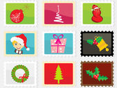 Set of merry xmas stamp — 图库矢量图片
