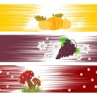 Set of banner for happy thanksgiving day - Stock Vector