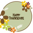 Vector for happy thanksgiving day — Stock Vector