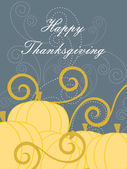 Vector for happy thanksgiving day — Vettoriale Stock