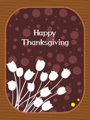 Vector for happy thanksgiving day — Vector de stock