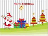 Illustration for merry xmas celebration — Stock Vector