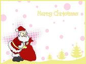 Ilustração para a celebração de natal feliz — Vetor de Stock