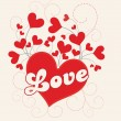 Royalty-Free Stock Vectorielle: BACKGROUND FOR LOVE