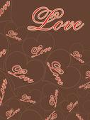 Vektor illustration för kärlek — Stockvektor