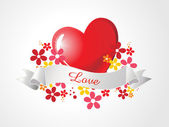 Ilustración vectorial para el amor — Vector de stock