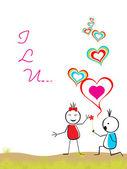 Aşk için vektör çizim — Stok Vektör