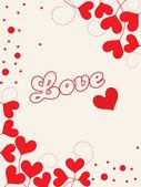 Achtergrond voor liefde — Stockvector