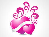 Aşk için arka plan — Stok Vektör