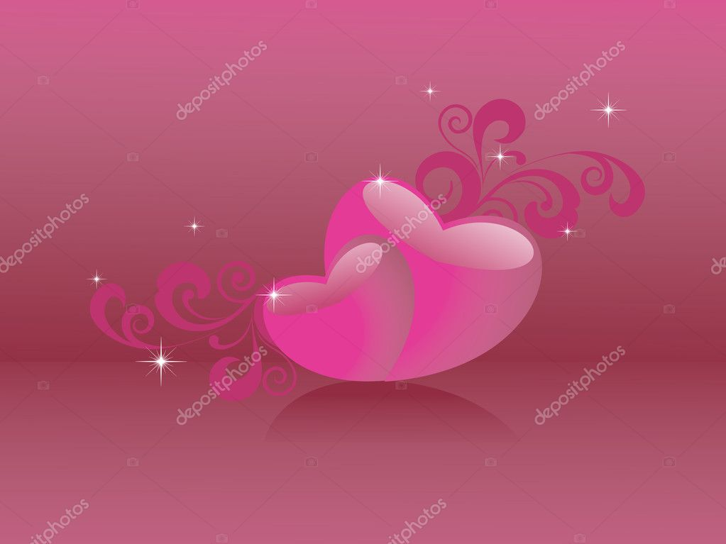Beautiful romantic background for love — Stock Vector #4303877