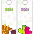 Set of new year tag — Stock Vector