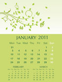 Vector three months calender — Stock Vector