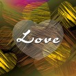 Vector illustration of love background — Vector de stock #4350938