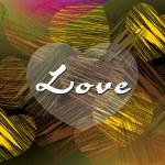vectorillustratie van liefde achtergrond — Stockvector
