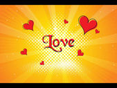 Vector illustration of love background — Stock Vector