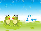 Vector illustration of love background — Vector de stock